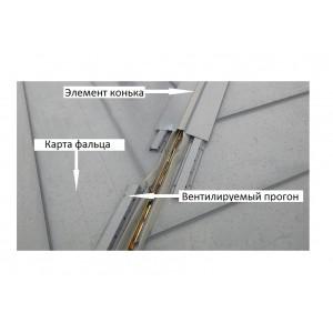 Вентпрогон опорный для фальца Grand Line